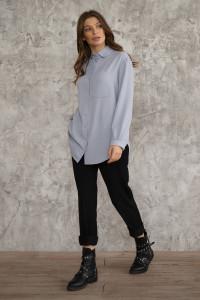 Сорочка «Мінна» сірого кольору