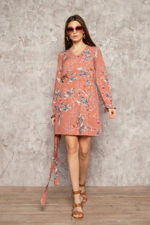 Платье «Франни» персикового цвета