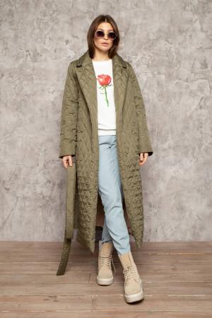 Жіноче пальто «Тонді» кольору хакі