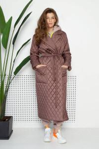 Женское пальто «Тонди» цвета мокко