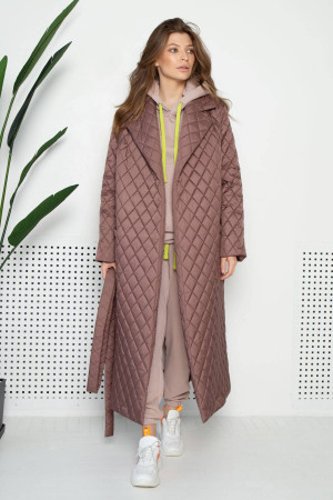 Жіноче пальто «Тонді» кольору мокко