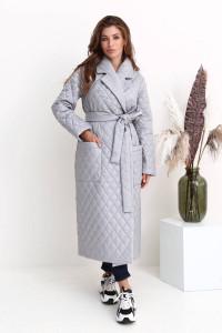 Женское пальто «Тонди» серого цвета