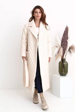 Женское пальто «Тонди» молочного цвета