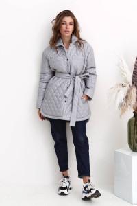 Женская куртка «Джозет» серого цвета
