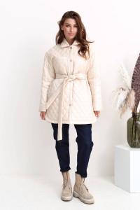 Жіноча куртка «Джозет» молочного кольору