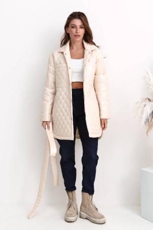 Женская куртка «Джозет» молочного цвета