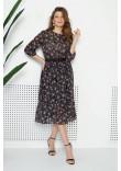 Сукня «Патті» чорного кольору з принтом