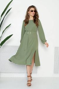 Сукня «Айріс» кольору хакі
