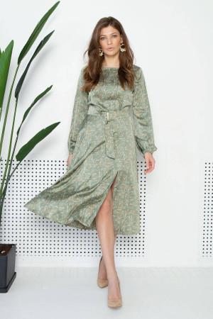 Платье «Софья» оливкового цвета