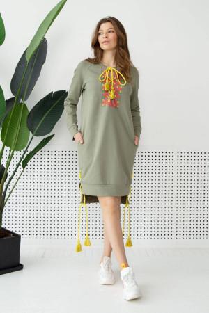 Платье «Като» оливкового цвета