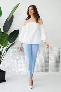 Блуза «Койд» молочного цвета