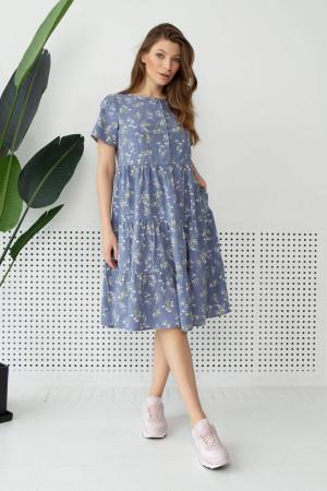 Платье «Барти» голубого цвета