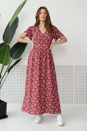 Платье «Орсана» вишневого цвета