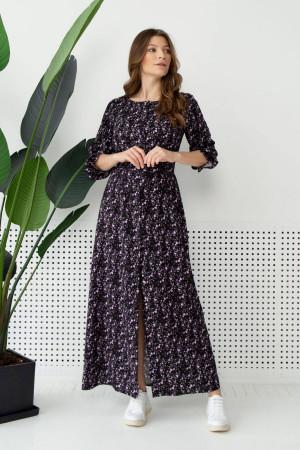 Платье «Дельфина» с лиловым принтом