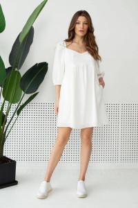 Платье «Матэо» молочного цвета