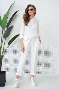 Штаны «Микай» белого цвета