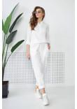 Штани «Мікай» білого кольору