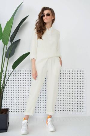Штаны «Микай» молочного цвета