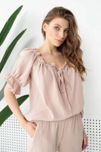 Блуза «Лали» бежевого цвета
