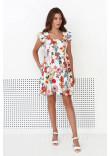 Сукня «Джиллі» молочного кольору з квітковим принтом