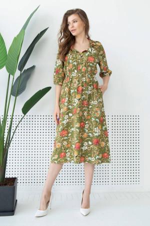 Платье «Тильда» цвета хаки