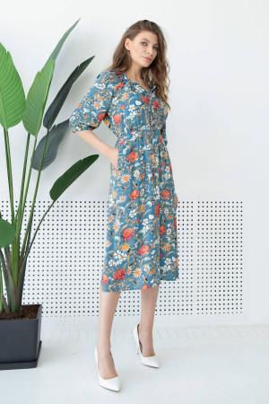 Платье «Тильда» голубого цвета