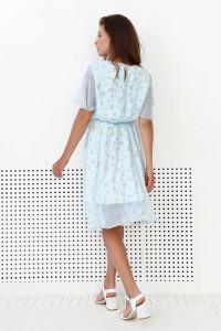 Платье «Дэрил» голубого цвета
