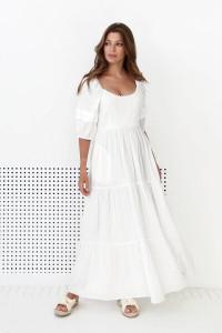 Платье «Люпин» молочного цвета