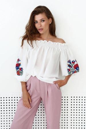 Блуза «Бритта» молочного цвета
