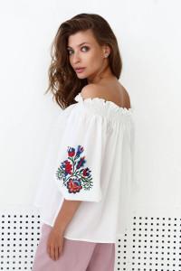 Блуза «Брітта» молочного кольору