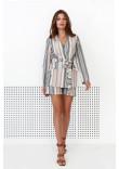 Піджак «Сюзанна» бежевого кольору з принтом-смужками