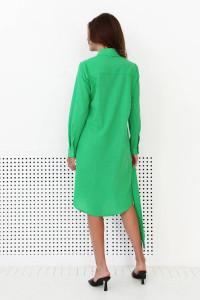 Платье-рубашка «Марыся» зеленого цвета