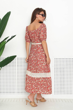 Сукня «Фліко» теракотового кольору