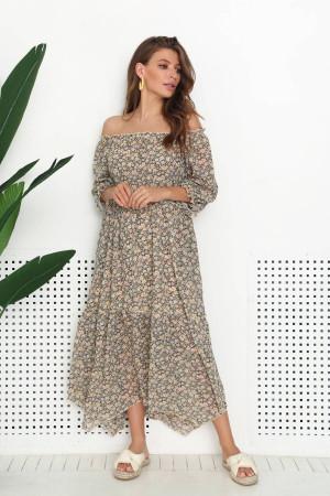 Сукня «Валентайн» чорного кольору з принтом