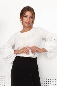 Блуза «Лоренс» молочного кольору