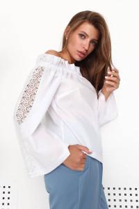 Блуза «Данута» білого кольору