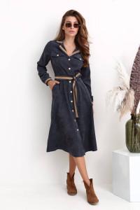 Платье «Сабина» серого цвета