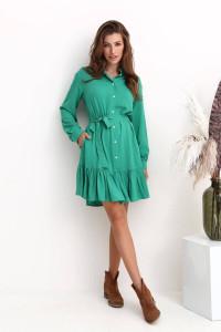 Платье «Труди» зеленого цвета