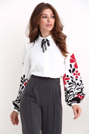 Блуза «Джастін» молочного кольору з принтом