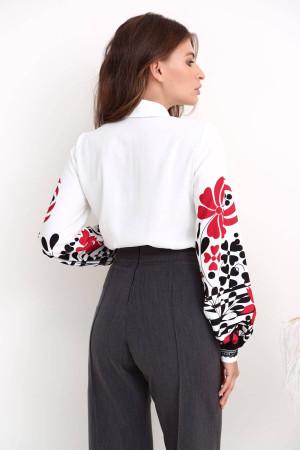 Блуза «Джастин» молочного цвета с принтом
