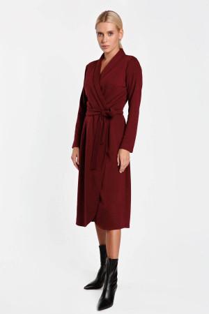 Платье «Еремия» цвета бордо