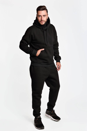 Спортивный костюм «Димер» черного цвета