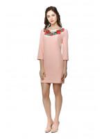 Платье «Душистый букет» розовое