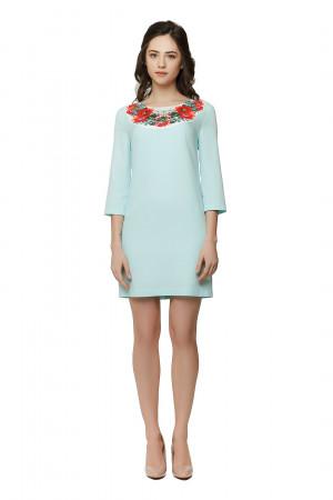 Платье «Душистый букет» светло-голубое