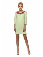 Платье «Душистый букет» светло-зеленое