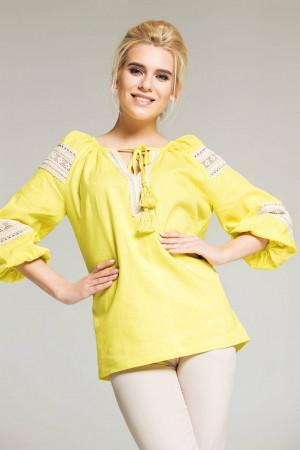 Блуза «Форция» желтого цвета