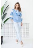 Блуза «Форція» блакитного кольору