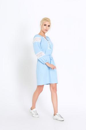 Платье «Полина» голубое