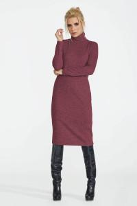 Платье «Меланж» бордового цвета