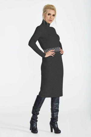 Платье «Меланж» черного цвета